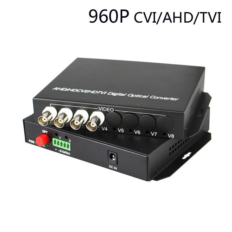 JYTTEK 960P CVI TVI AHD 4CH Video Fiber Optic Media Converter (Tx / Rx) for HD CCTVJYTTEK 960P CVI TVI AHD 4CH Video Fiber Optic Media Converter (Tx / Rx) for HD CCTV