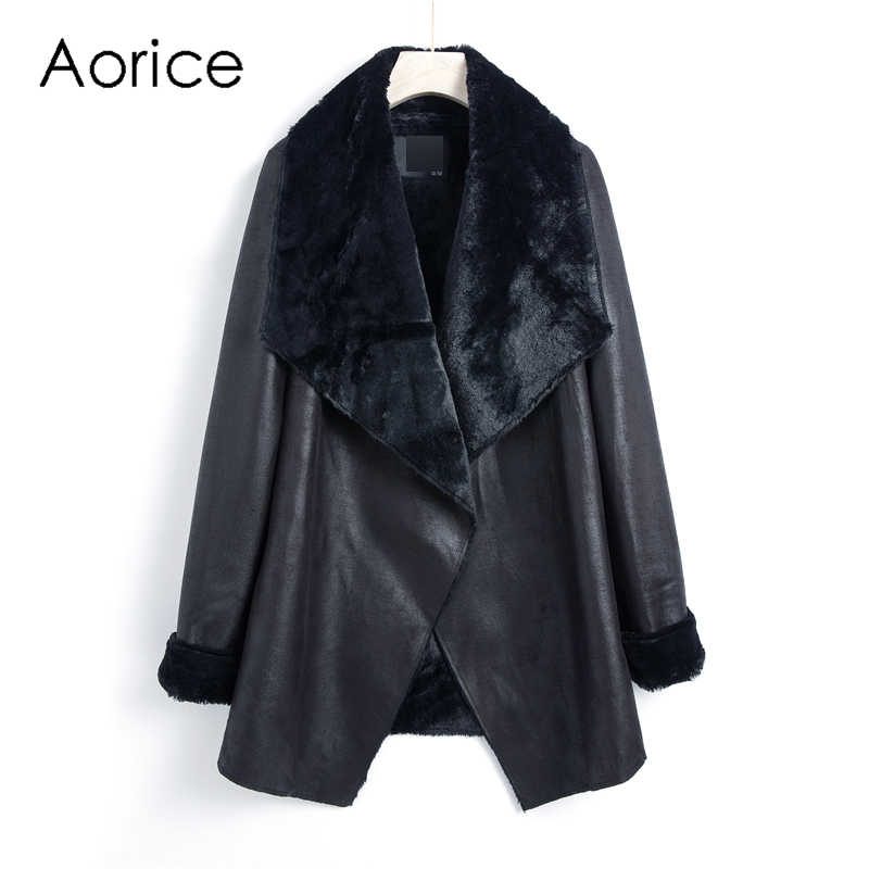 Aorice  QY801 2019 new fashion women coats and jackets autumn spring long coat overcoats casual outwear brown black color