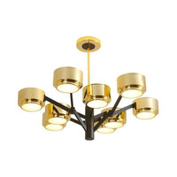 Gold Lampshade Chandelier For Living Room Bedroom Quality Pendant Lamp Designer Lighting Villa Simple Quality Lamp