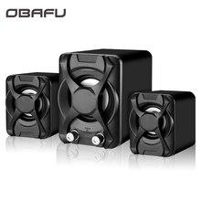 Wired Computer Speaker Subwoofer Stereo Bass USB 2.1 Speaker 3D Atmosphere PC Po