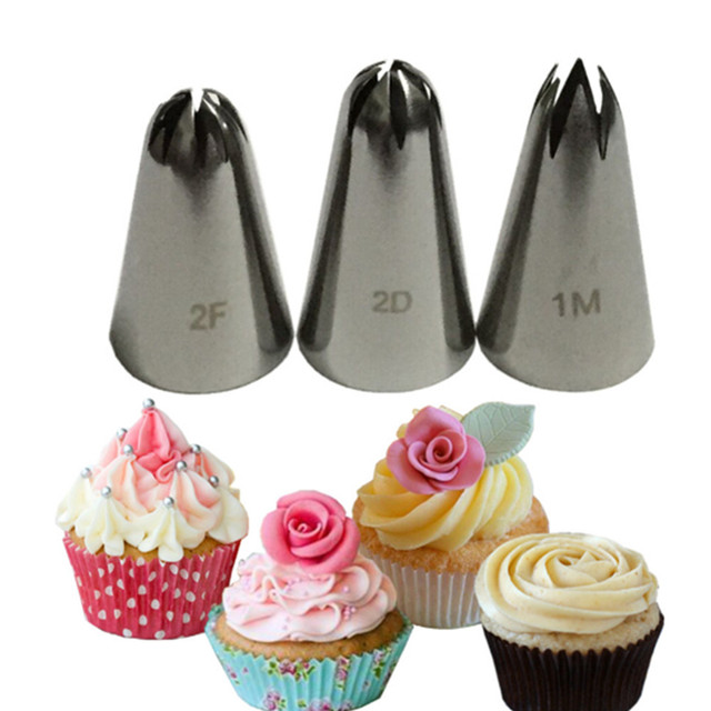 1 Piece 1m 2d 2f Cream Cake Icing Piping Russian Nozzles Pastry Tips Fondant