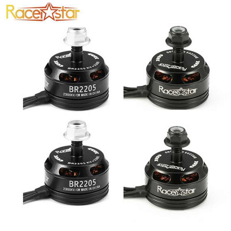 New Arrival 4Pcs Racerstar Racing Edition 2205 BR2205 2300KV 2-4S Brushless Motor Black For 210 X220 250 280 for RC Quadcopter lhi fpv 4x mt2206 2300kv cw ccw fpv brushless motor 2 4s 4 pcs racerstar rs20a lite 20a blheli s bb1 2 4s brushless esc