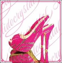 Aidocrystal Slingback pink pearls women high heels shoes Peep Toe Beautiful Thin Heels 14cm PU Leather Buckle Strap shoes