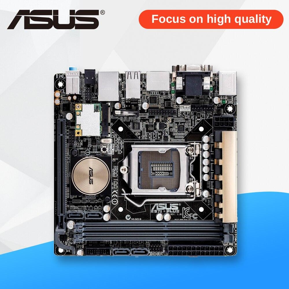 Asus Z97I-PLUS Desktop Motherboard Z97 Socket LGA 1150 i7 i5 i3 DDR3 16G SATA3 Mini-ITX