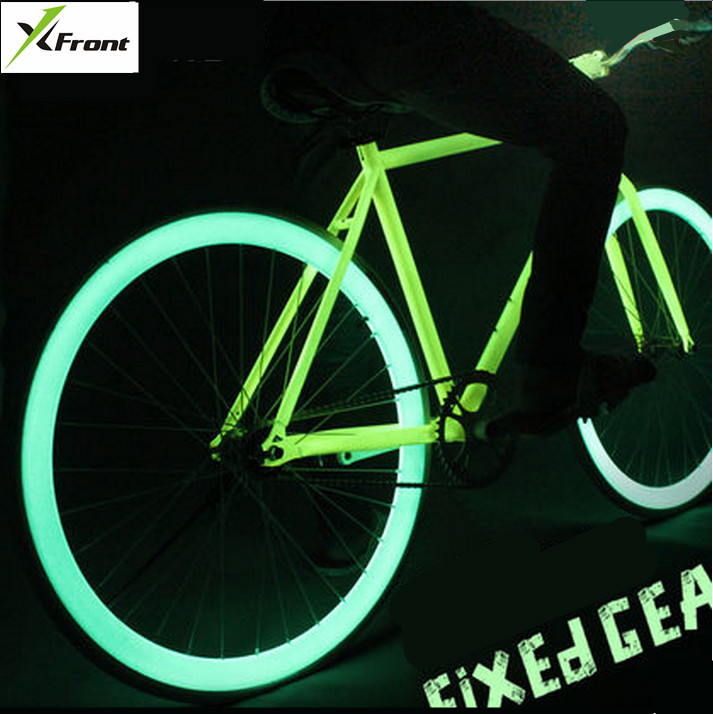 New X-Front Brand Luminous High-carbon Steel Fixed Gear Bike 700C Students Bicycle Down Road Retro Bicicleta