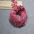 Новый Шарф для Женщин вязание хлопка warps шарфы 2017Women's зимний шарф шарфы Теплый Бесконечность Кабель Вязать Клобук Шеи Длинный Платок
