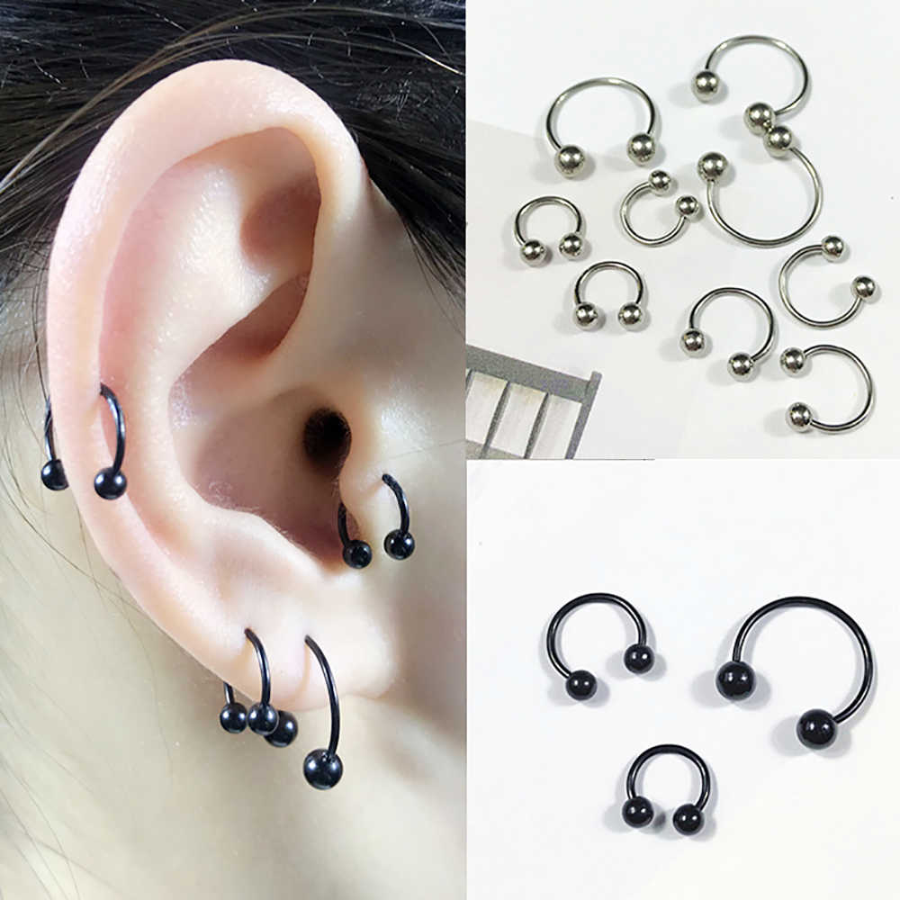 1pcs Stainless Steel Nose Ring Tragus Piercing Hoop Septum Ring Cartilage Earring Helix Ear Body Jewelry For Sexy Women men