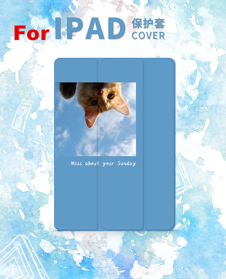 Blue Cat Magnetic Flip Cover For iPad Pro 9.7 10.5 Air Air2 Mini 1 2 3 4 Tablet Case Protective Shell for New iPad 9.7 2017 nice soft silicone back magnetic smart pu leather case for apple 2017 ipad air 1 cover new slim thin flip tpu protective case