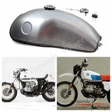 Papanda 10L Motorcycle Steel Fuel Tank Universal Oil Gas Tank for Yamaha Suzuki Honda RD 50 350 400 BMW R100 R цена в Москве и Питере