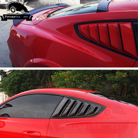 Porcupine car ABS Side Grille Coverlet Black Primer Window Shades for Ford Mustang 2015 2018 Car Styling Accessories