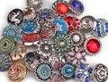 (50 pçs/lote) Mix 18mm Botão De Pressão de Metal na Pulseira Charme Strass Estilos Intercambiáveis Moda EUA Ginger Snaps botão Jóias