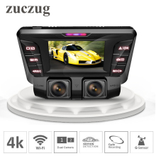 ZUCZUG 4K hidden Wifi Car DVR Camera Novatek NT96660 Dash Cam dual lens SONY IMX323 Car Video Recorder Dual Full 1080P