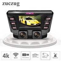 ZUCZUG 4K hidden Wifi Car DVR Camera Novatek NT96660 Dash Cam dual lens SONY IMX323 Car Video Recorder Dual Full 1080P