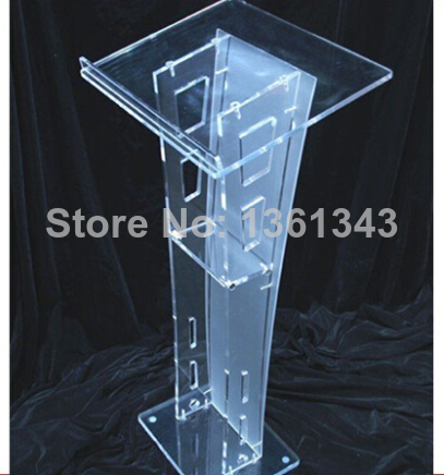 Hot SellingSlanted Top Modern Acrylic Lectern Podium Pulpit