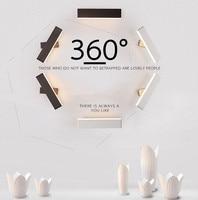 الحديثة الحد الأدنى الإبداعية وحدة إضاءة LED جداريّة مصباح داخلي إطار مربع بمصباح أكريليكي نوم السرير الممر الممر جدار مصباح يمكن استدارة مصابيح الجدار الداخلي LED مصابيح وإضاءات -