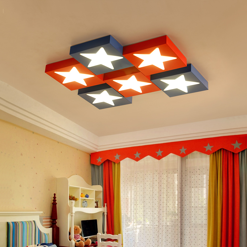 Latest Collection Of Creative Color Stars Led Ceiling Lamp Childrens Lamp Cartoon Starfish Warm Bedroom Ceiling Kinder Kindergarten Ceiling Lamps Ceiling Lights Ceiling Lights & Fans