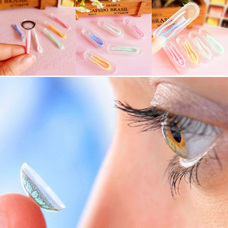 Lens Plastic Set Case Care Health Remover Soft Stick Inserter Tool Contact RD