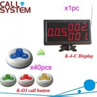 Bán Hot Nhà Hàng gọi điện thoại bàn hệ thống nút 1 màn hình thu với 40 chuông còi dịch vụ ăn uống cho thiết b
