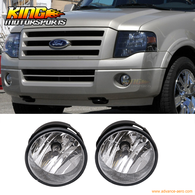 Fit For 07-14 Ford Expedition Ranger Front Fog Light Lamp LH RH Pair H10 12V 42W Clear Lens 1 pair lh