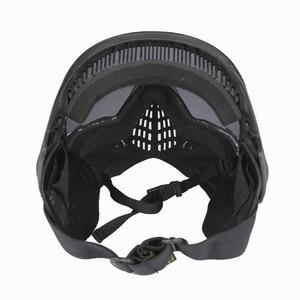 Image 4 - FMA Sporten Airsoft Tactical Eyewear Ski Jacht Veiligheid Anti fog Beschermende Goggle Volgelaatsmasker met Zwarte Lens FM 0022