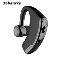 Tebaurry V9 Business Bluetooth Headset Wireless With Mic Voice Control Handsfree Bluetooth Earphone Headphone For Phone