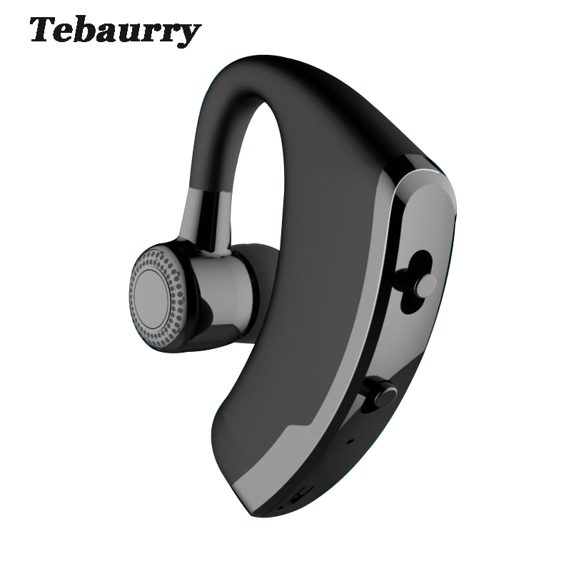Tebaurry V9 Business Bluetooth Headset Wireless With Mic Voice Control Handsfree Bluetooth Earphone Headphone for phone iphone bq 618 wireless bluetooth v4 1 edr headset support handsfree earphone with intelligent voice navigation for cellphones tablet
