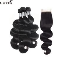 100% Brazilian Hair Weave Bundles With Closure Natural Color Body Wave 4x4 Closure With Bundles Human Hair Bundles With Closure