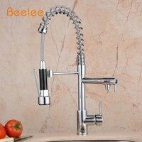 Beelee Новое поступление Кухня кран все вокруг повернуть поворотный 2 Функция воды на выходе хром Cast Вытяните Поворотный Смеситель BL0783