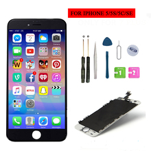 For iphone 5 5S 5C SE LCD Display Touch Screen No Dead Pixel Digitizer Assembly Replacement Screen With Free Tools 100% brand new no dead pixel screen for iphone 5 5s 5c lcd display touch screen digitizer assembly replacement black and white
