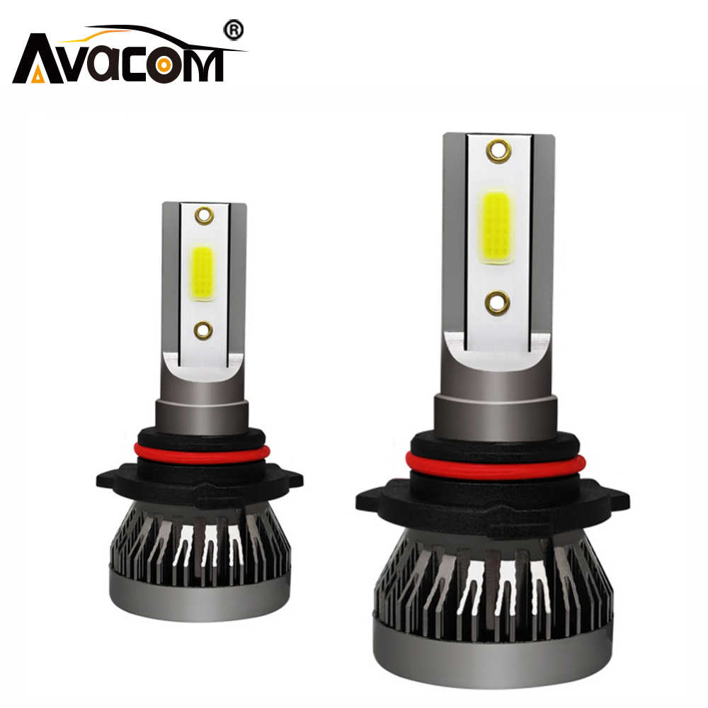 AVACOM h7 led h4 motorcycle headlight 6500k 12V 30W led for motorcycle bulb 4000LM COB  H1/H7/H8/H9/H11/9005/9006 Auto Fog Lamps