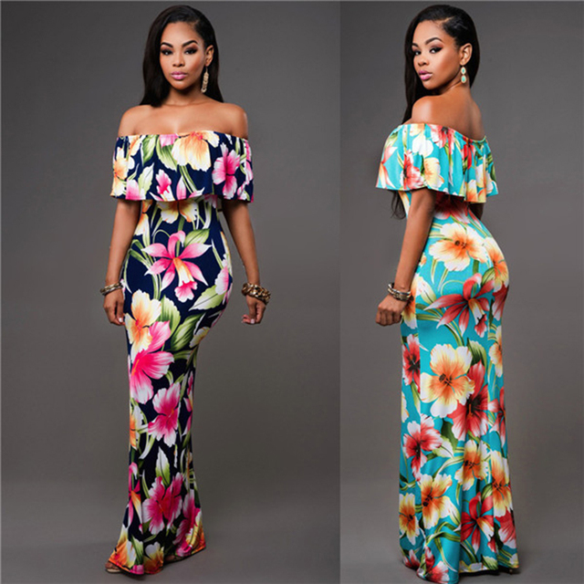Evening Gowns For Wedding Guests: 2017 Summer Strapless Dress Women Maxi Wedding Guest Sexy