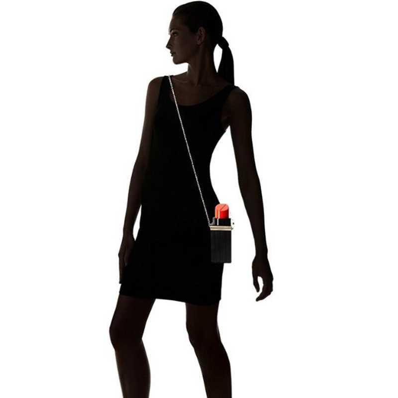 Модные вечерние сумки на цепочке, женские сумки, черная губная помада, дизайнерские женские вечерние сумочки для банкета, красивые PP-1068
