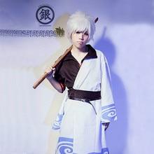 Аниме Gintama косплэй костюм Hallween маскарадные костюмы взрослых костюм Саката гинтоки полный набор для карнавала Пурим Вечерние