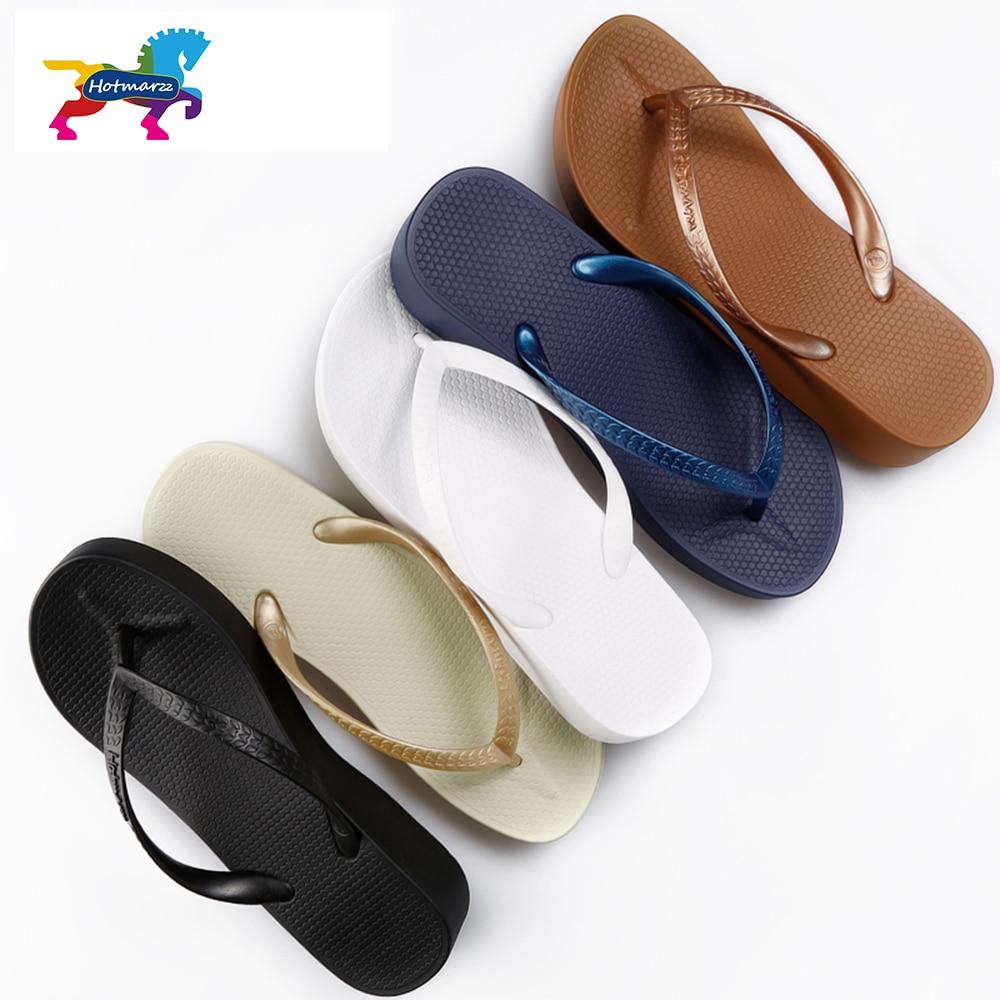 Hotmarzz Women High Heel Platform Sandals Beach Slippers Wedge Flip Flops Fashion Slides Summer Shoes Woman