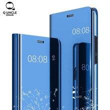 Luxury Leather Mirror Flip Phone Case For Samsung Galaxy S9 S8 S7 S6 Edge Plus A3 A5 A7 J3 J5 J7 2017 Cover For Note 8 A8 Cases luxury flip phone case for samsung galaxy s6 s7 edge s8 s9 plus litchi texture suction cup cover for note 8 9 a5 a7 a8 j3 j5 j7