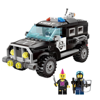Enlighten Police SWAT Jeep Car set Model Building Block Toys Educational Figure Gift toys For Children Compatible  1110
