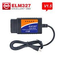ELM327 V1.5 Bluetooth/Wifi/USB дополнительная поддержка OBDII протокол диагностический инструмент OBD2 автоматический сканер