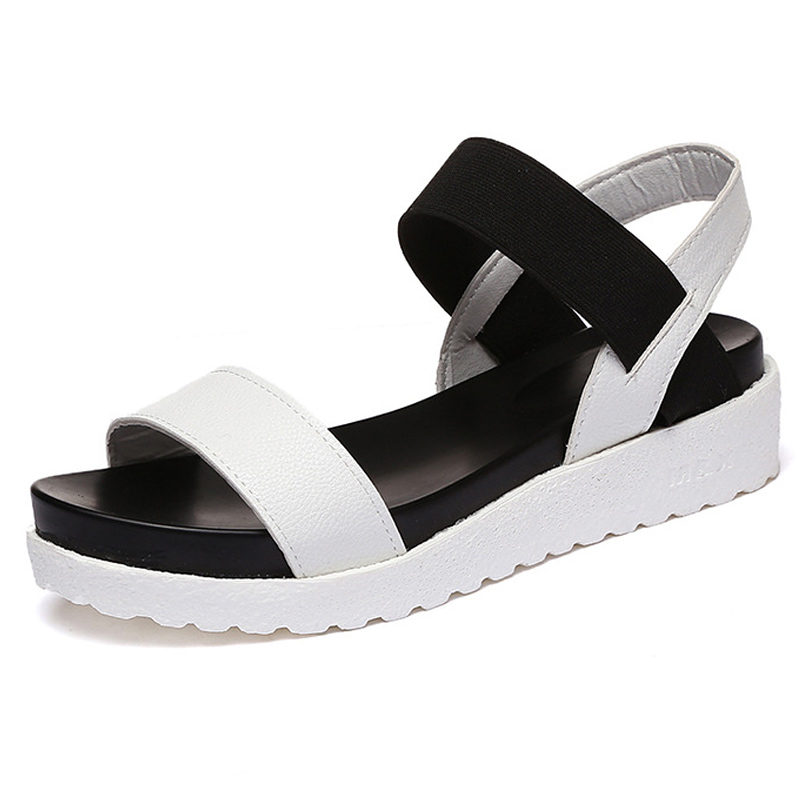 2017 Women Sandals Platform Sandals Summer Casual Shoes Woman Ladies  Flats Shoes Women's Footwear White Black phyanic 2017 gladiator sandals gold silver shoes woman summer platform wedges glitters creepers casual women shoes phy3323