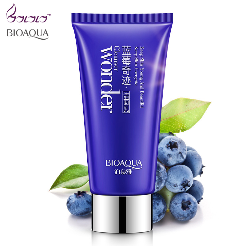 Bioaqua Brand Face Wash Facial Cleanser Nourishing Cleanser Foam Moisturizing Whitening Anti-Spots Marks Deep Clean Cosmetics image