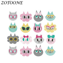 ZOTOONE Morale Animal Cat Iron on Transfers Patch for Clothing Heat Custom Patches Applique Sticker Clothes E