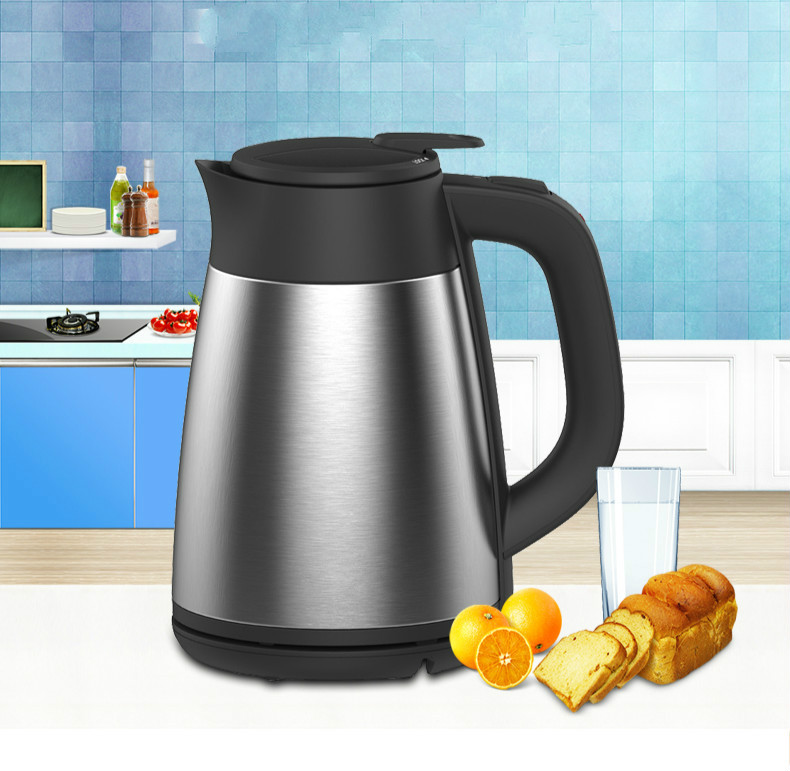 Electric kettle Vacuum insulated electric double 304 stainless steel home proof Safety Auto-Off Function hot kettle double insulated electric stainless steel water heater electric kettles safety auto off function