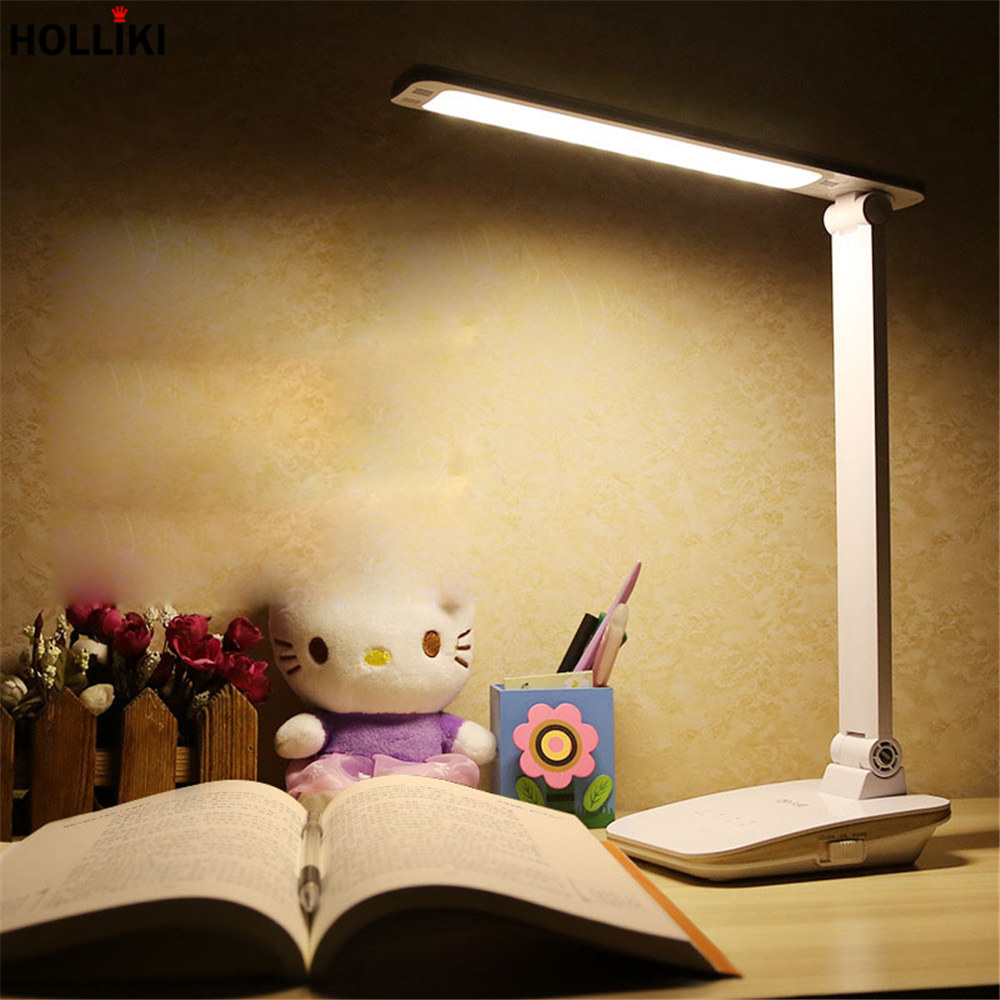 Eye-care LED Dimmer Desk Night Table Lamp Rechargeable Adjustable Reading Desk Lamps for Students Study Office Luminaria De Mesa icoco sensitive touch dimmer desk lamp eye care reading led fashion night light folding portable table lamp for office study new