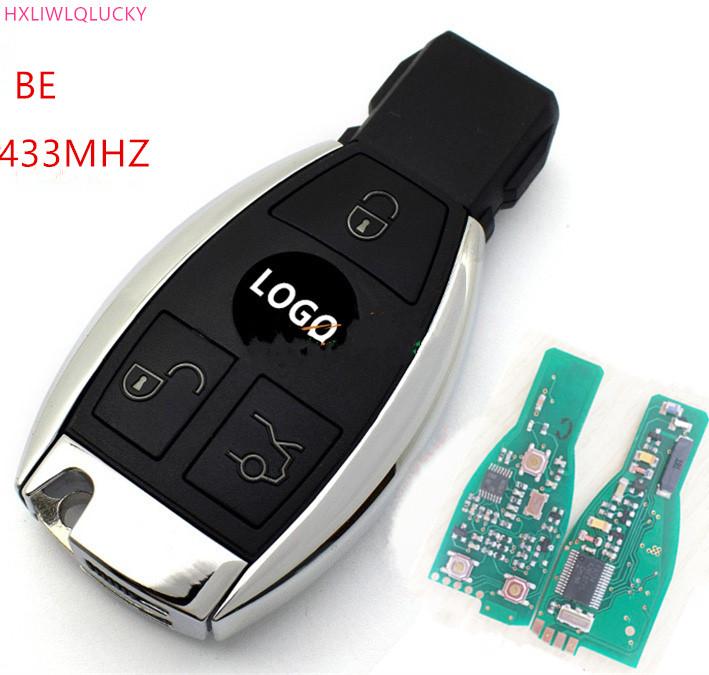 HXLIWLQLUCKY 3 Buttons remote key BE 433MHz 2 BATTERY for Mercedes Benz 1998-2012 free shipping