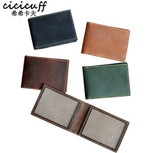 CICICUFF Driving License Holder Wallet Original Handmade Genuine Leather Cover Case for Passes Certificate Document Folder Thin