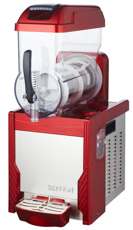 Free Shipping, Stainless steel body 15L tank commercial slush machine single cylinder with compressor slush machine