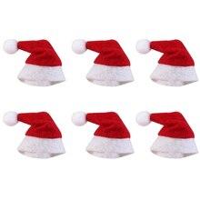 6 шт/30 шт Рождественская мини-шляпа Санта-Клаус шапка Рождественская шапка-леденец мини свадебный подарок креативные шапки Рождественская елка орнамент Декор