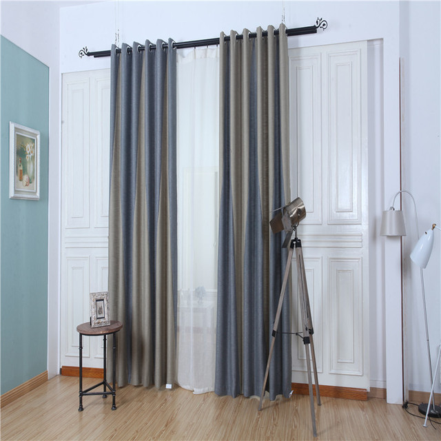 Summer New Ethnic Style Linen Stitching Classical Elegance High Shading Living Room Bedroom Chinese Roman Curtains