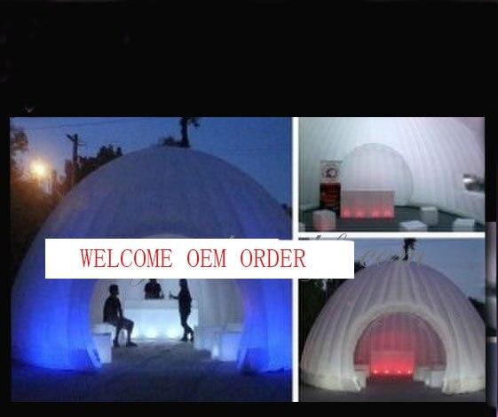 Рекламная надувная палатка с цветные светодиодные лампы для внешней хорошей атмосферы