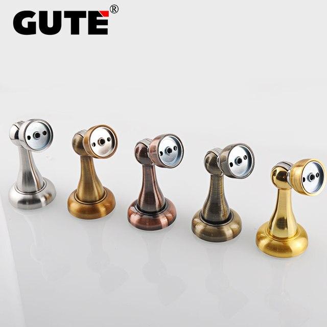 GUTE Magnetic Door Stop Stainless Steel Door Holder Catcher Double  Functional Door Stopper Mounted With Or