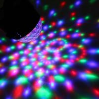 4 Color 18W Crystal Magic Ball Led Stage Lamp Disco Laser Light Party Lights Sound Control